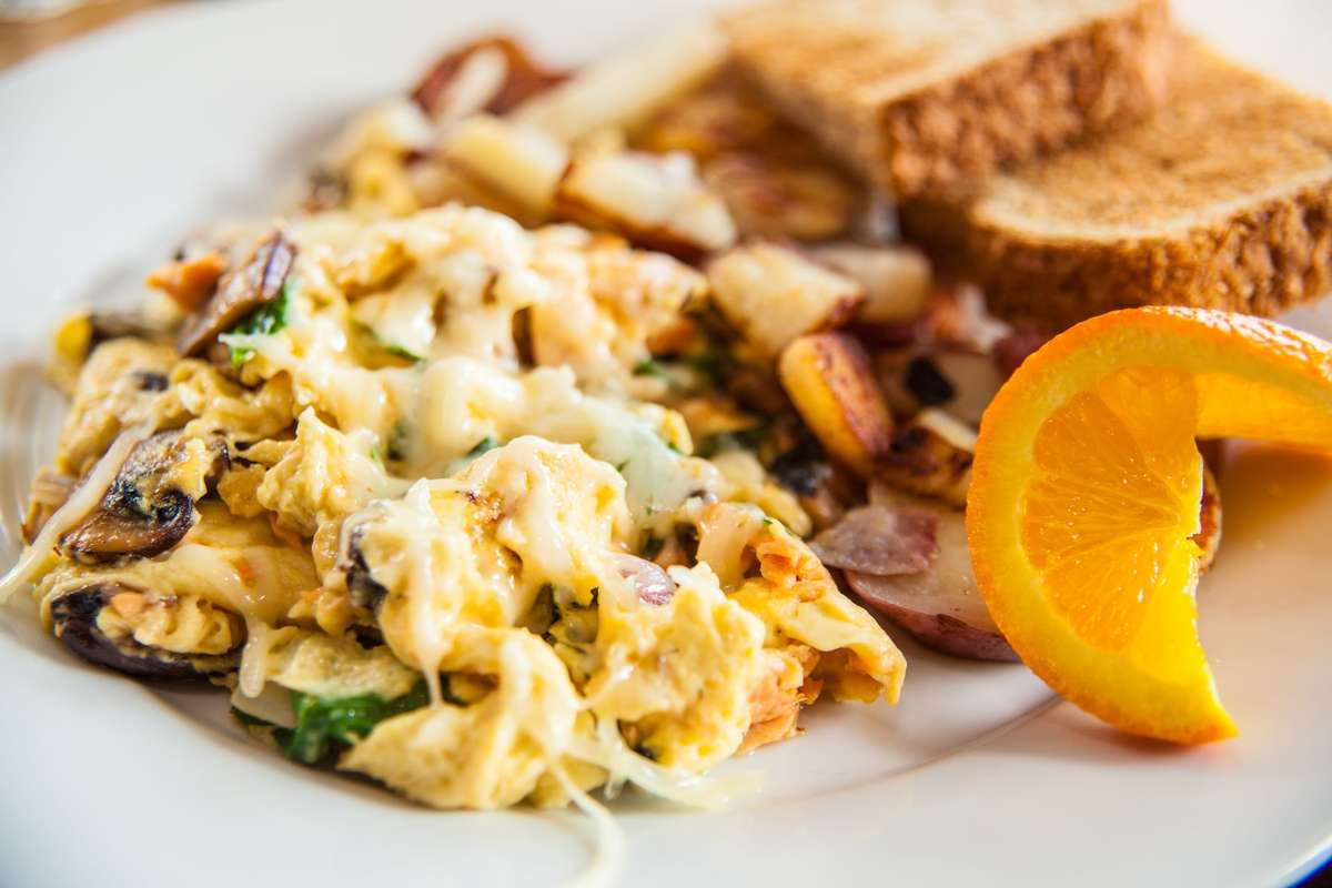 House-Smoked Salmon Scramble