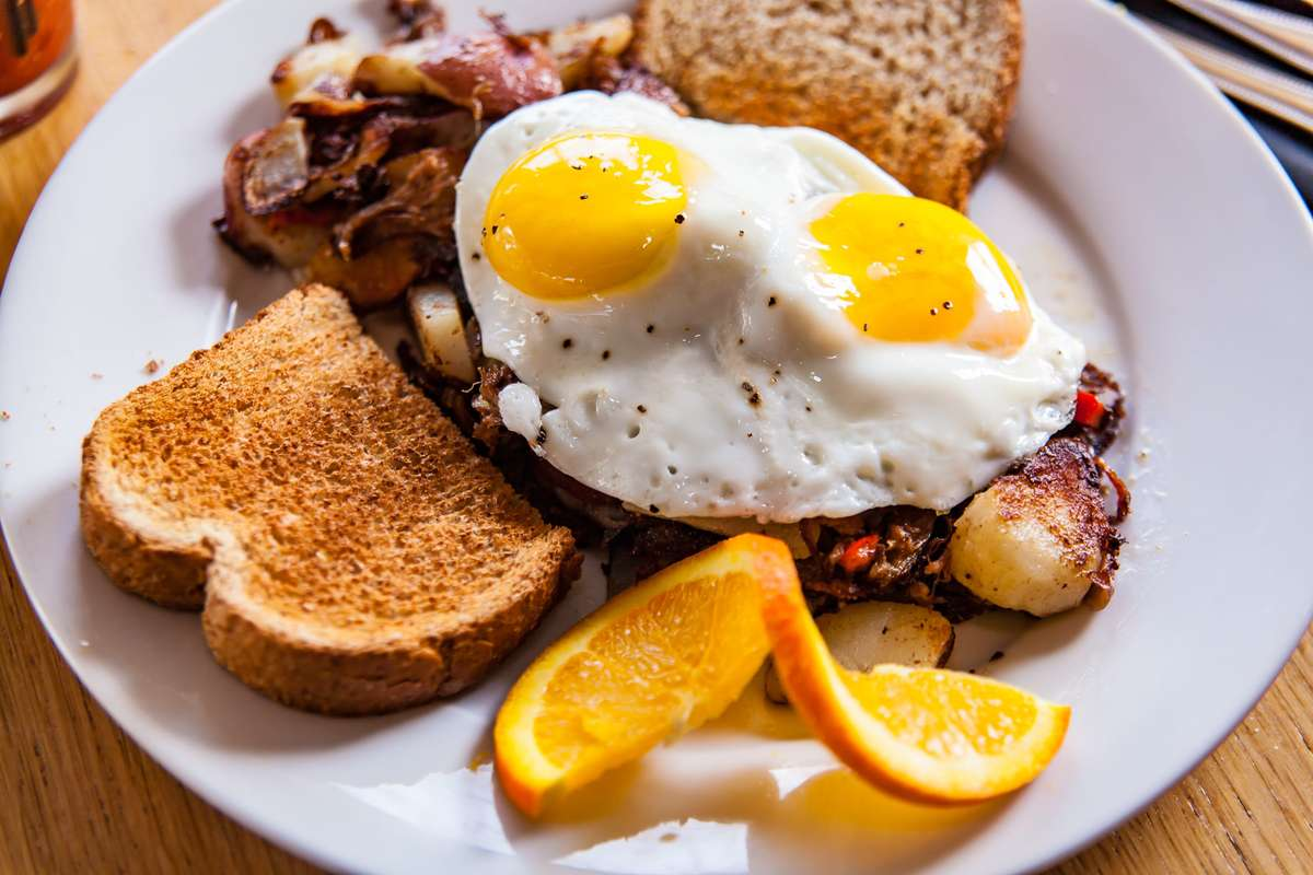 Pot Roast Hash and Eggs