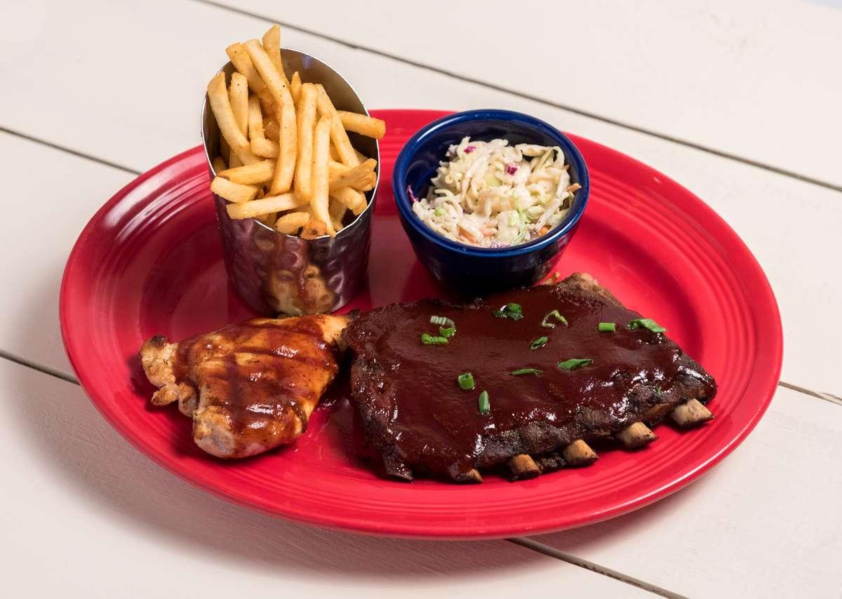 BBQ Ribs & Chicken Platter