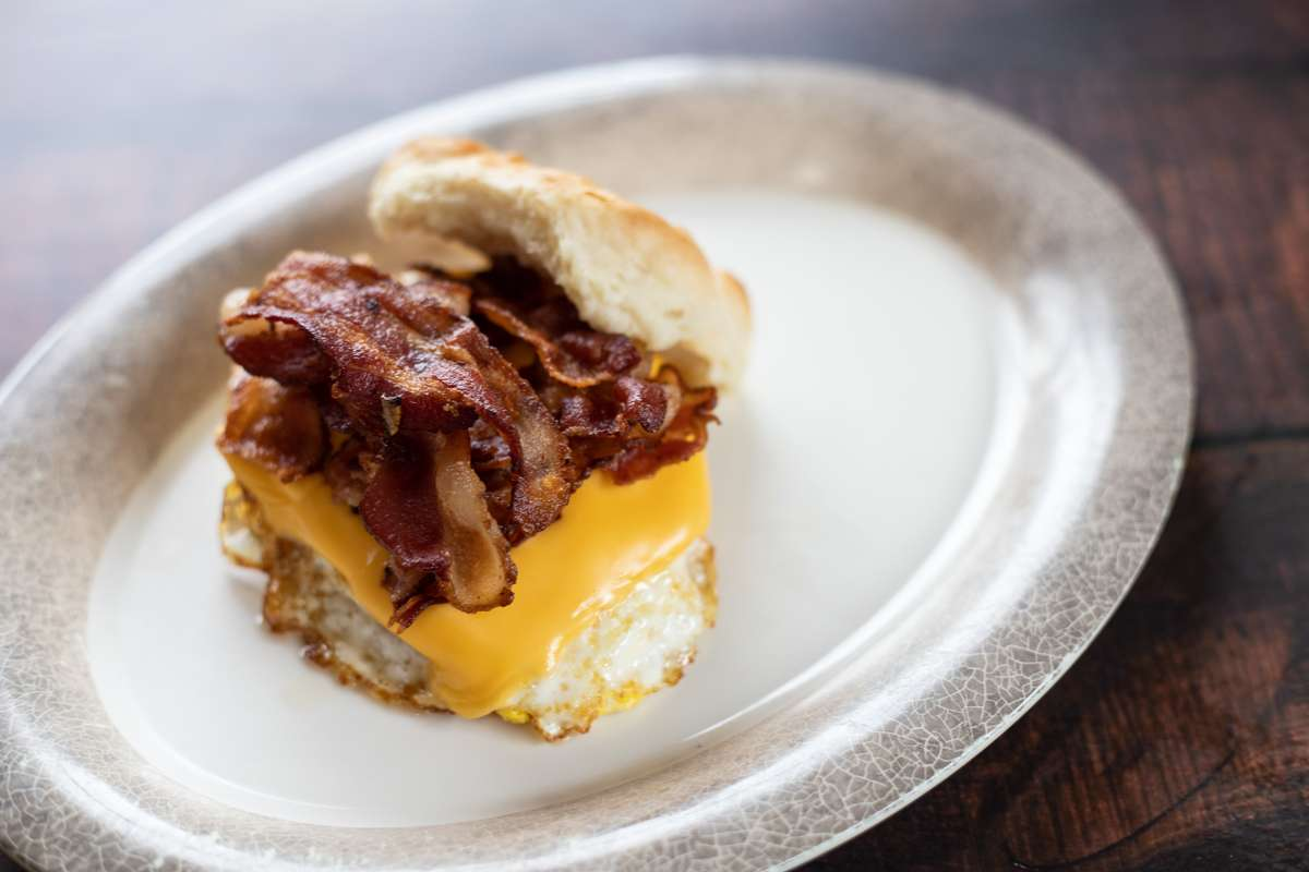 Egg Sandwich with Cheese and Meat