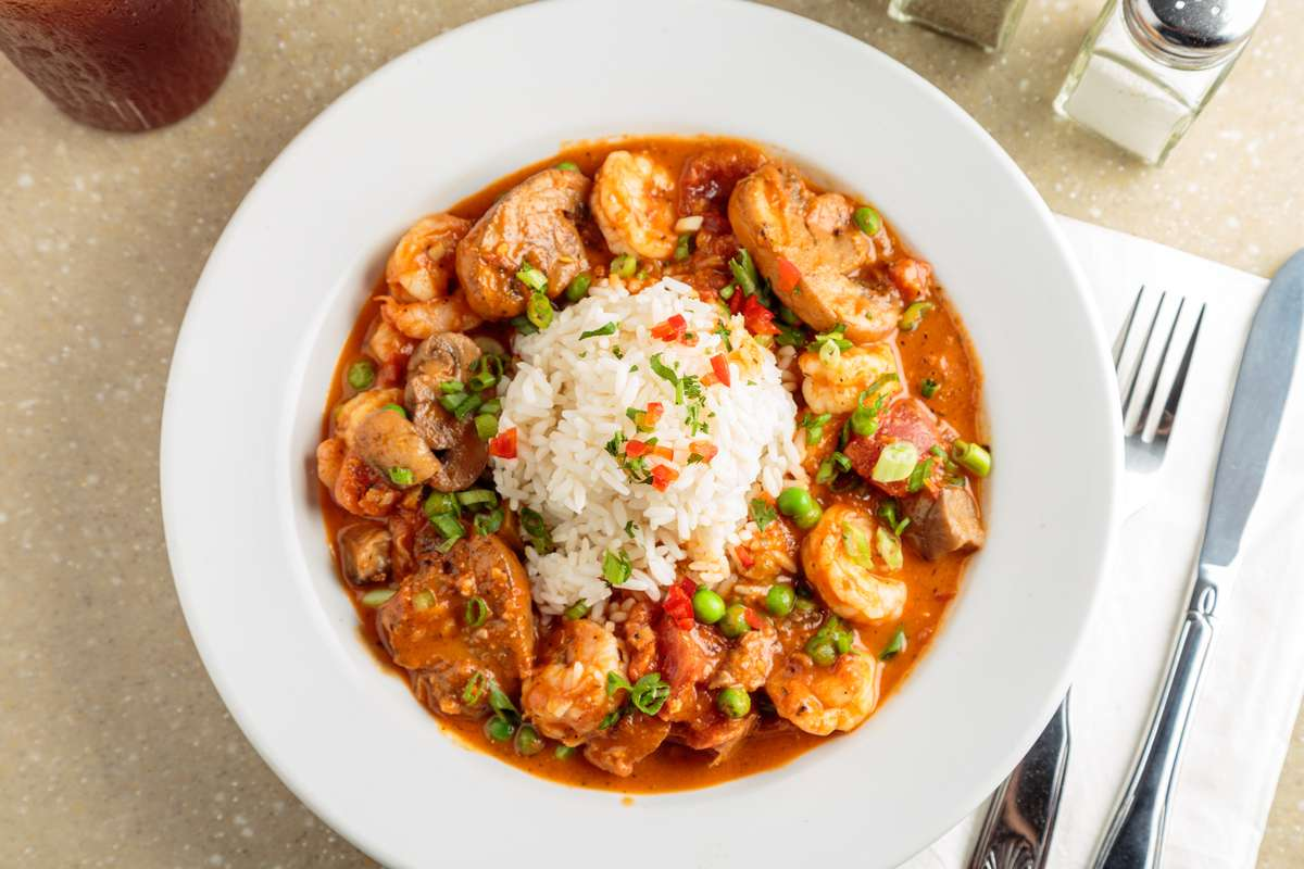 Shrimp Creola with Pasta or Rice