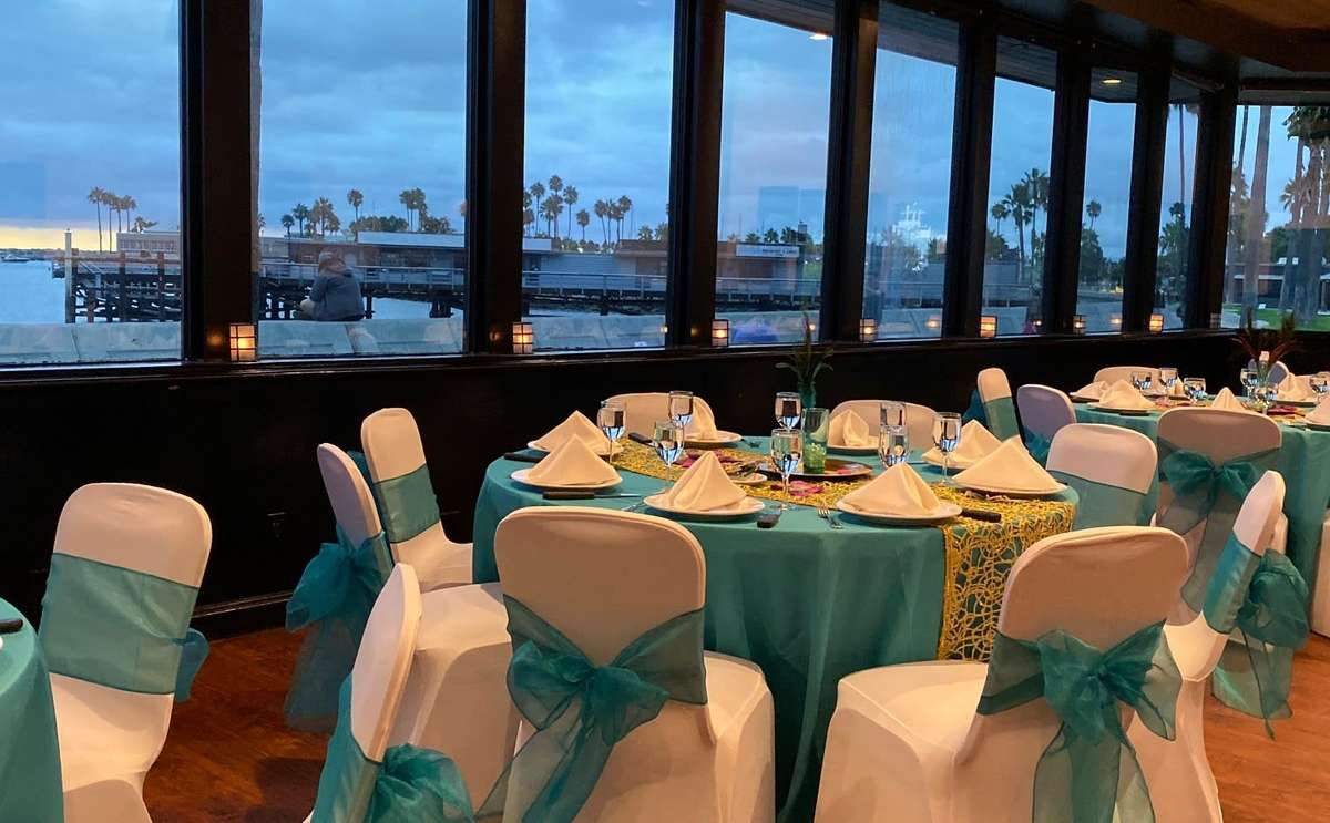 banquet room view from redondo of the marina