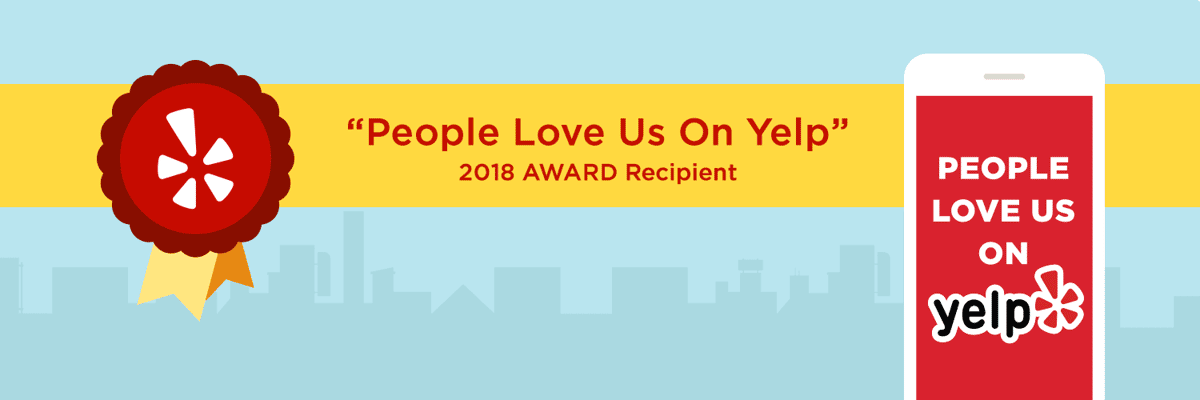 people love us on yelp 2018 away recipient