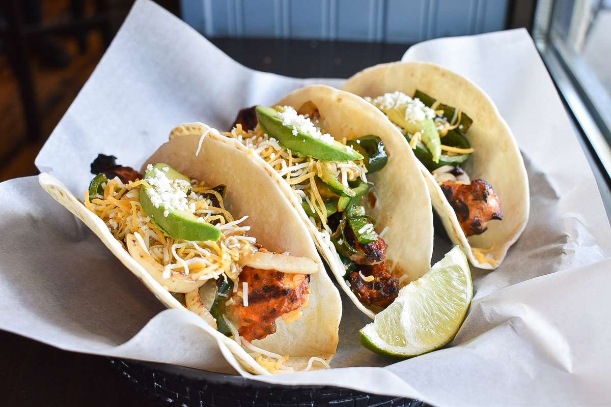 Spicy Chicken with Poblano & Onion Tacos
