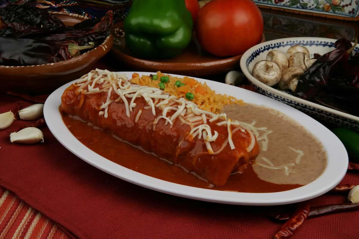 27. Burrito Enchilado Plate