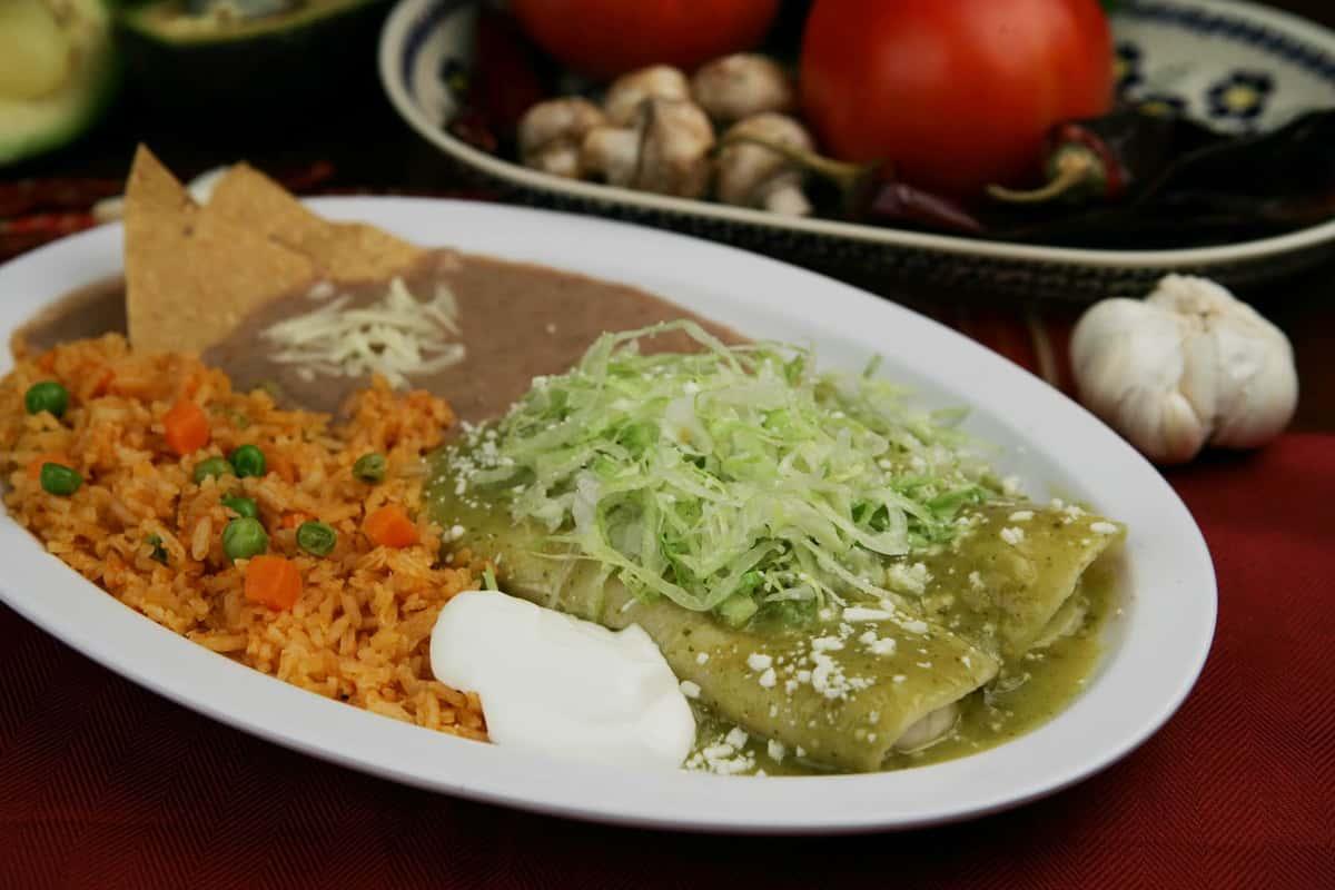 two enchiladas plate