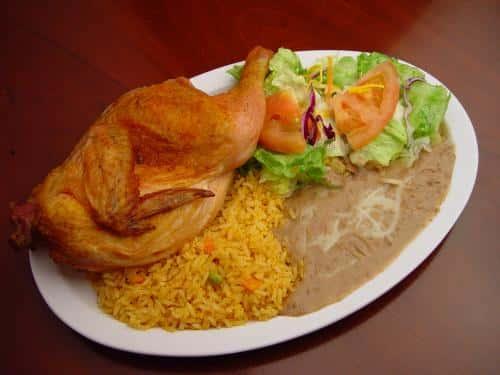 Pollo Asado - With Rice and Beans