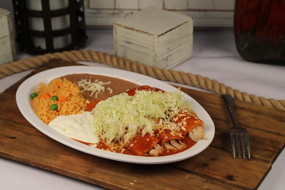 3 Piece Enchilada Plate