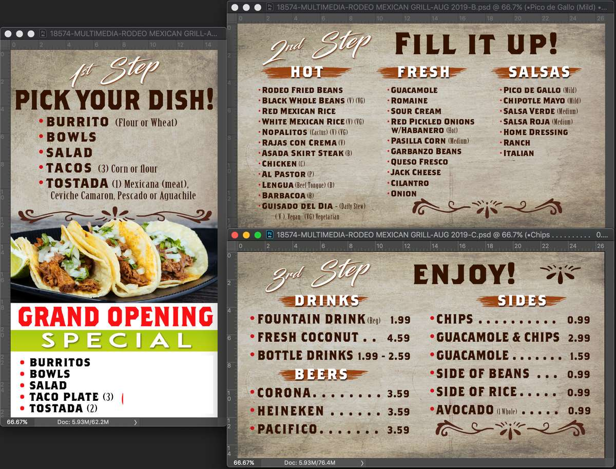 rodeo express menu