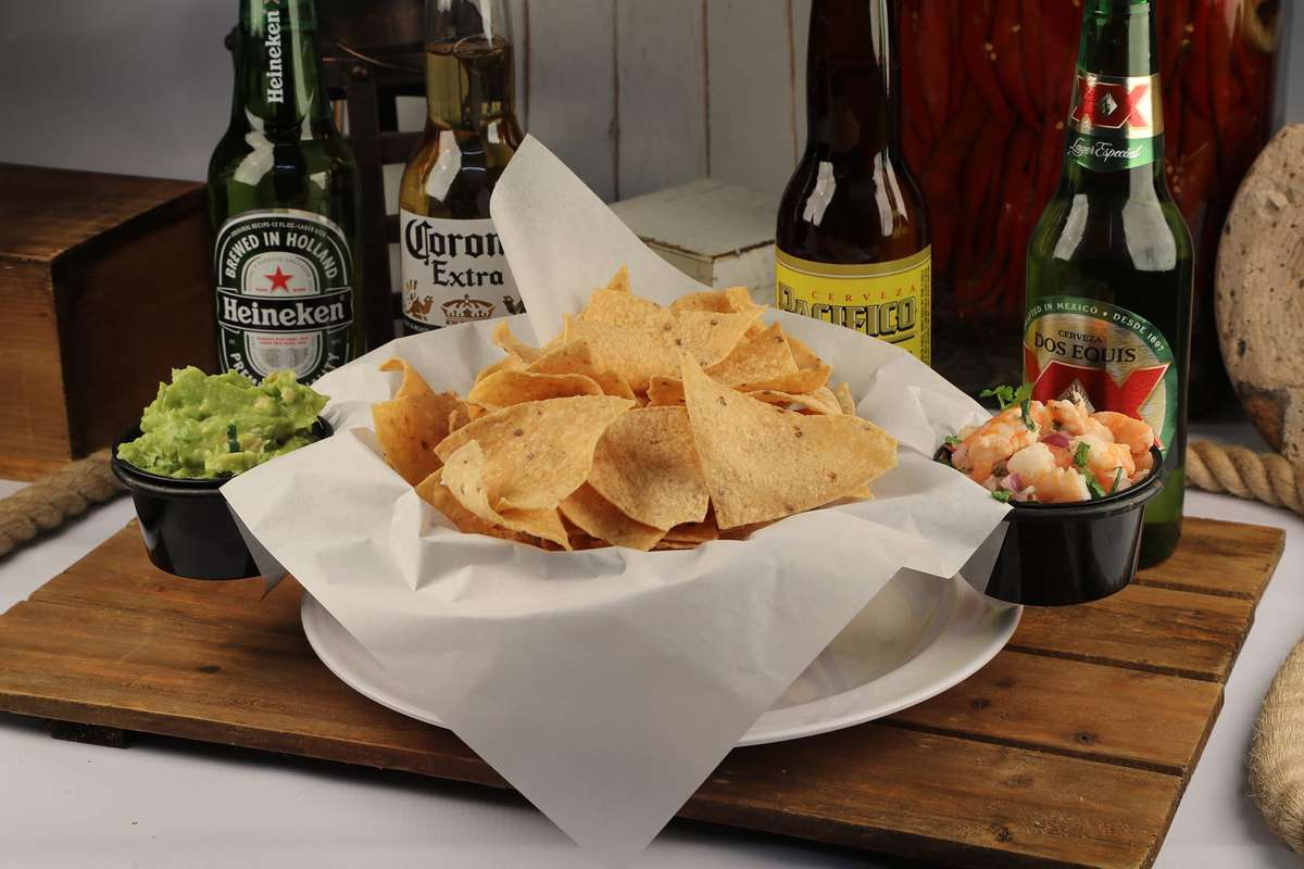 Chips, Guacamole and Ceviche