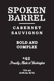 Spoken Barrel, Cabernet Sauvignon, Washington