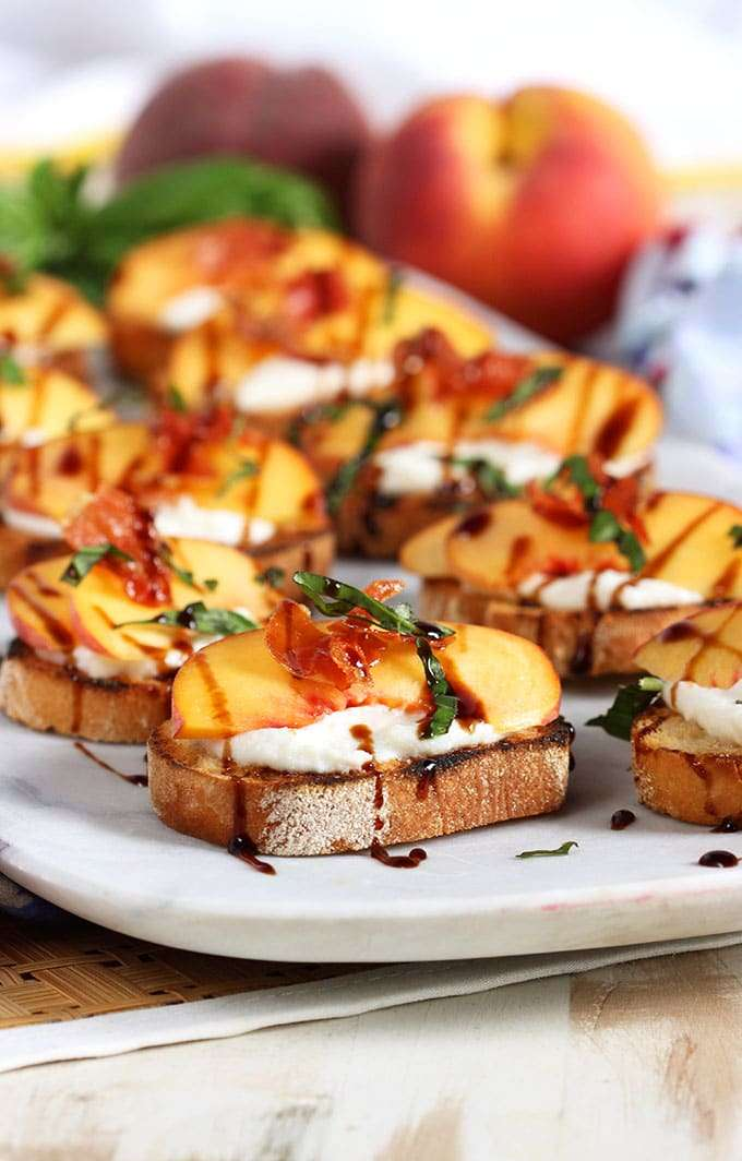 Grilled Peach and Ricotta