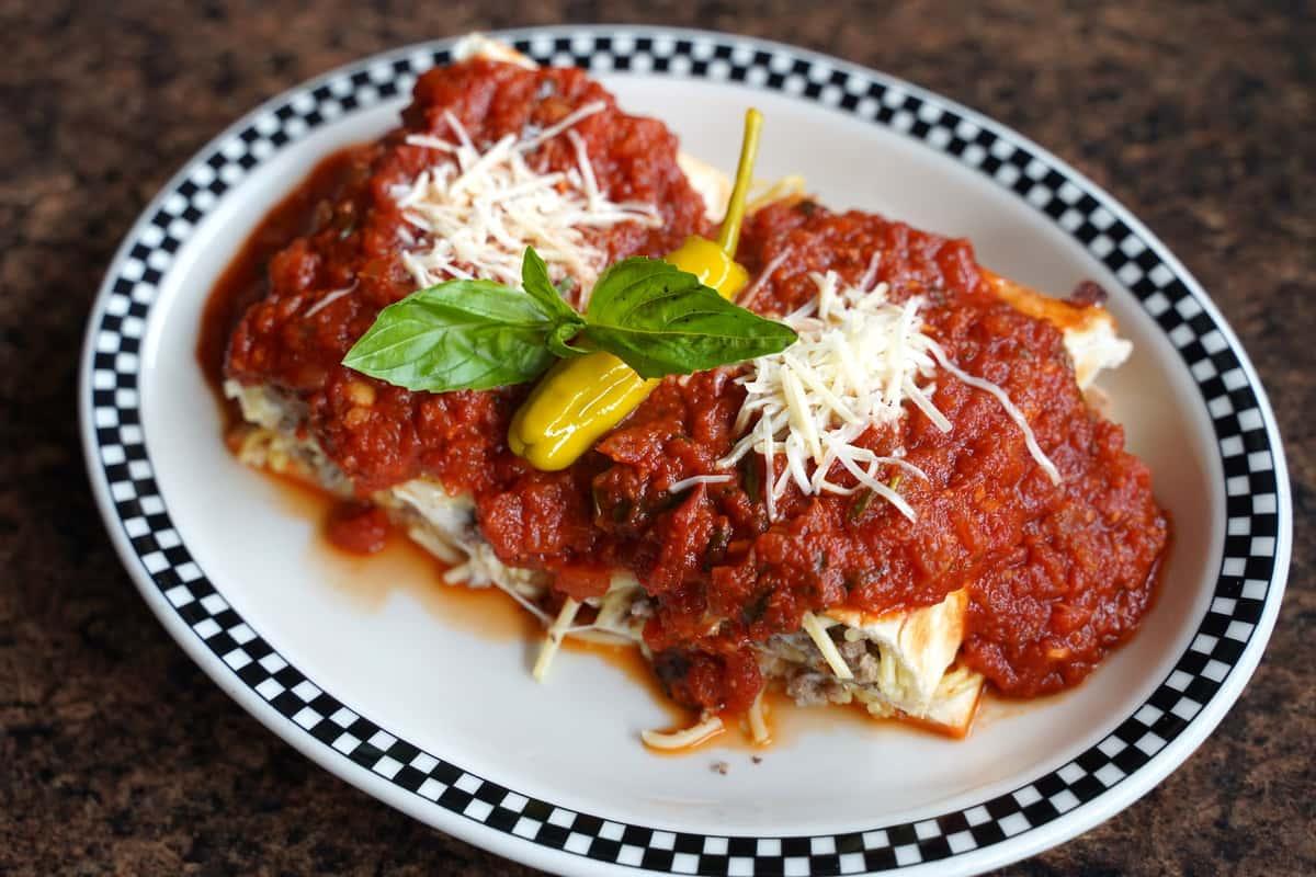 Spaghetti Pie Panino