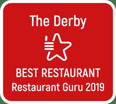 The Derby Voted Best Restaurant 2019 by Restaurant Guru