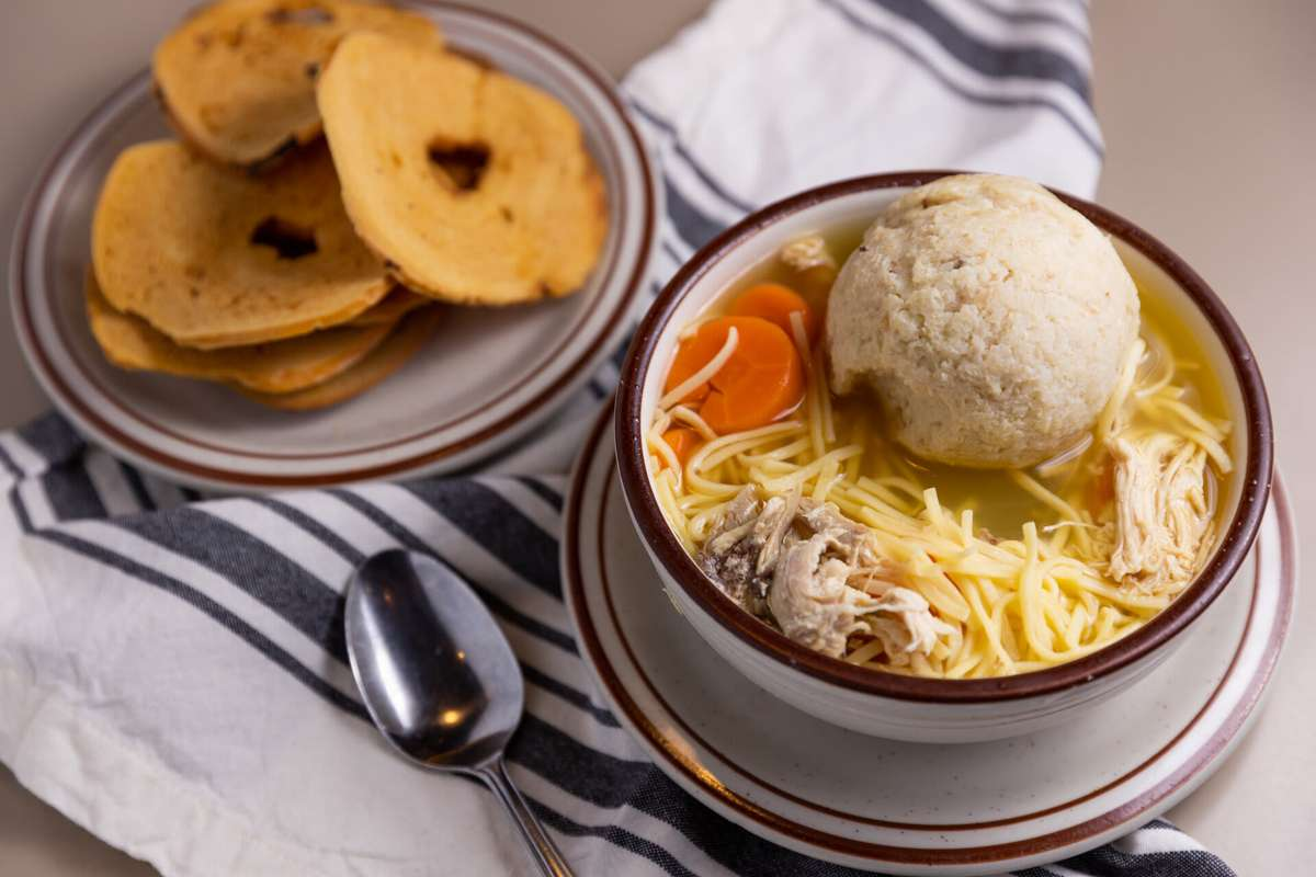 Chicken Noodle Soup with Matzo Ball