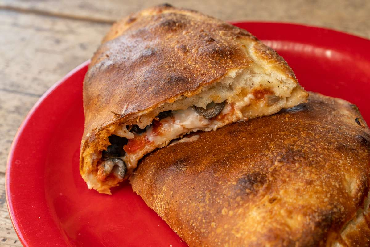 the vegetarian calzone