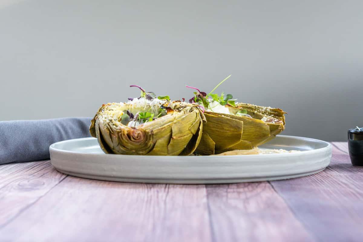 Grilled Whole Artichoke