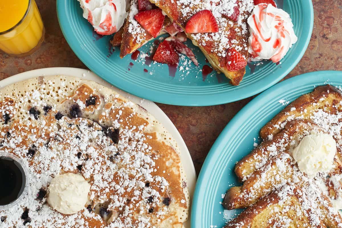 assorted breakfast food