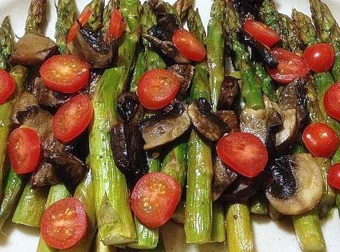 Asparagus, Tomato, & Mushroom