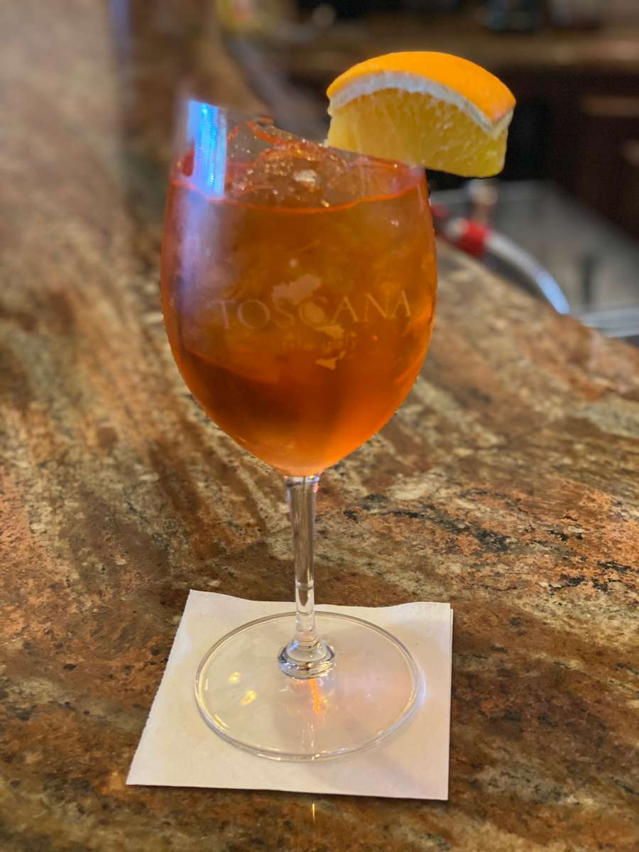 Suggested Cocktail: Aperol Spritz