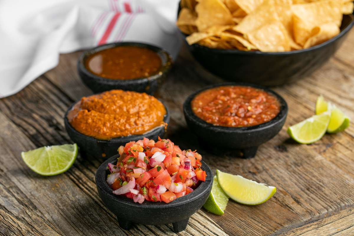 Salsa Flight with Chips