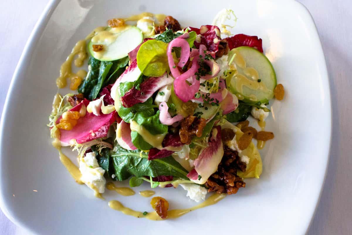 Close up of Baby Belgian Endive & Lacinato Kale salad