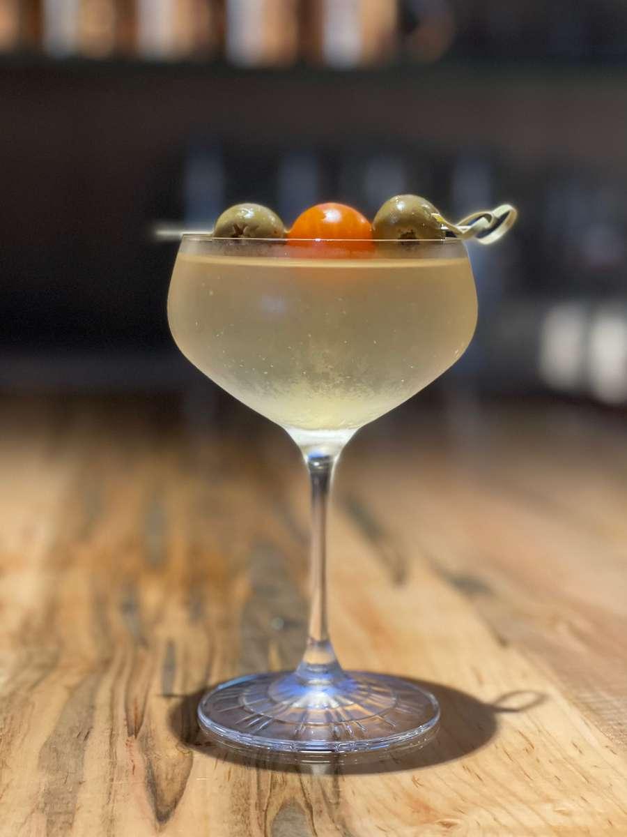 Mediterranean Dirty Martini