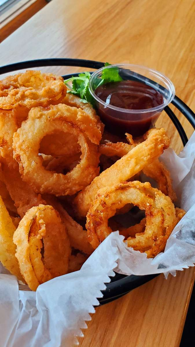 Flour Dusted Onion Rings