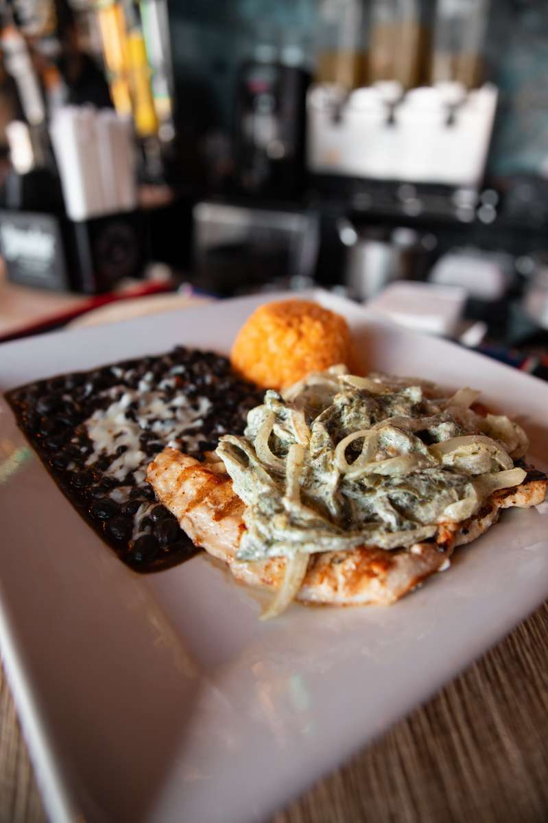 Pollo Con Rajas (Chicken With Poblano Peppers)