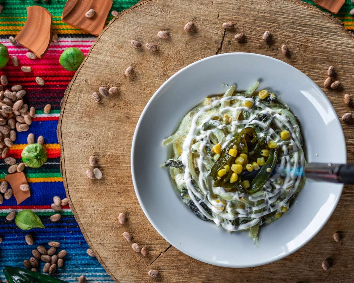 Rajas Con Crema (Chilies and Cream)