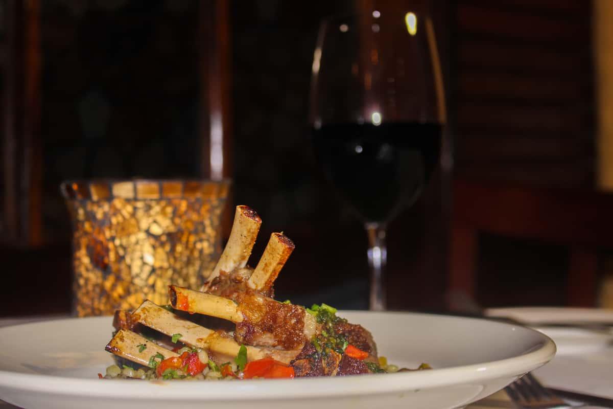 lamb and wine