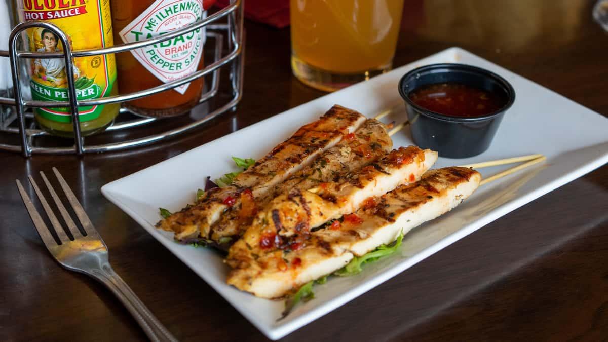 Spicy Thai Chicken Skewers