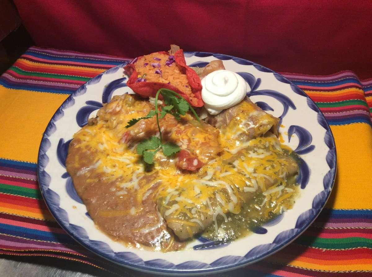 Combo # 8. Chile Relleno, Tamal, Enchilada