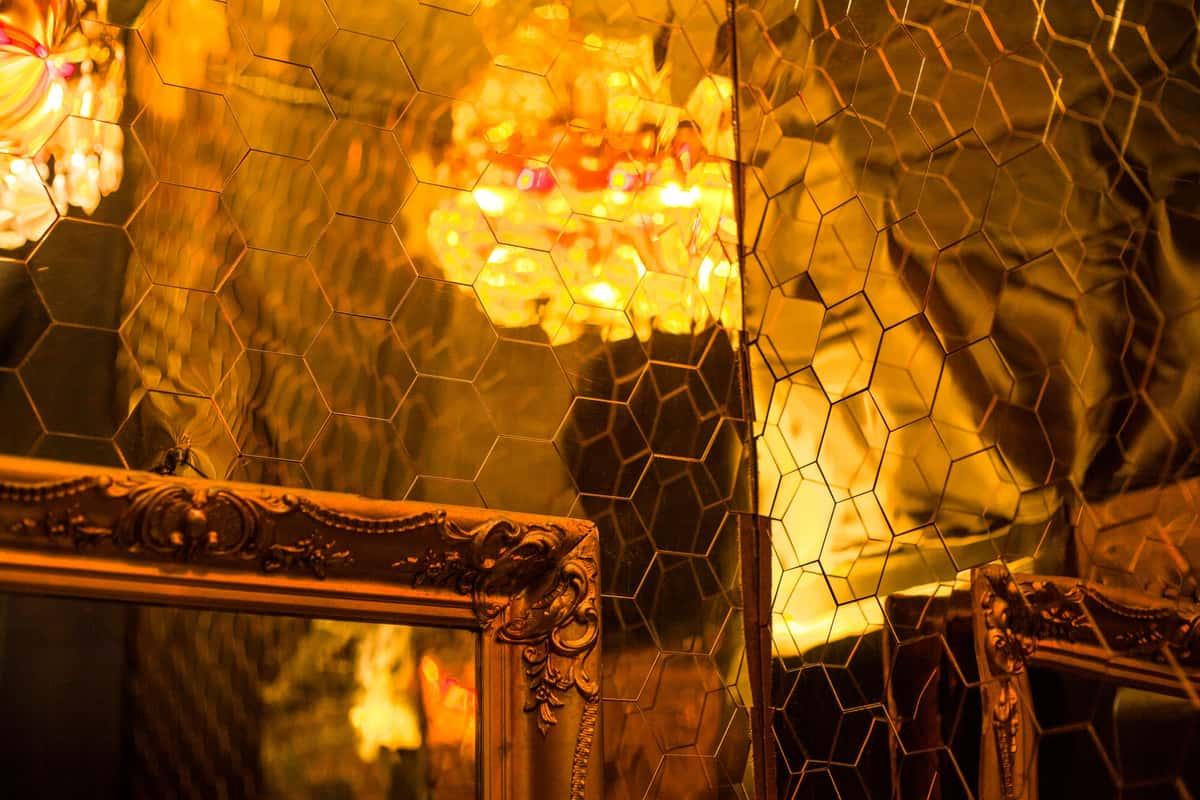 gold bathroom interior