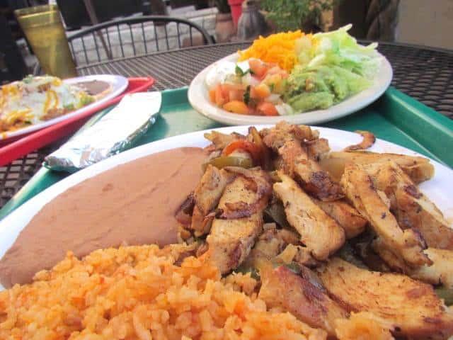 Chicken Fajita Plate/Taco