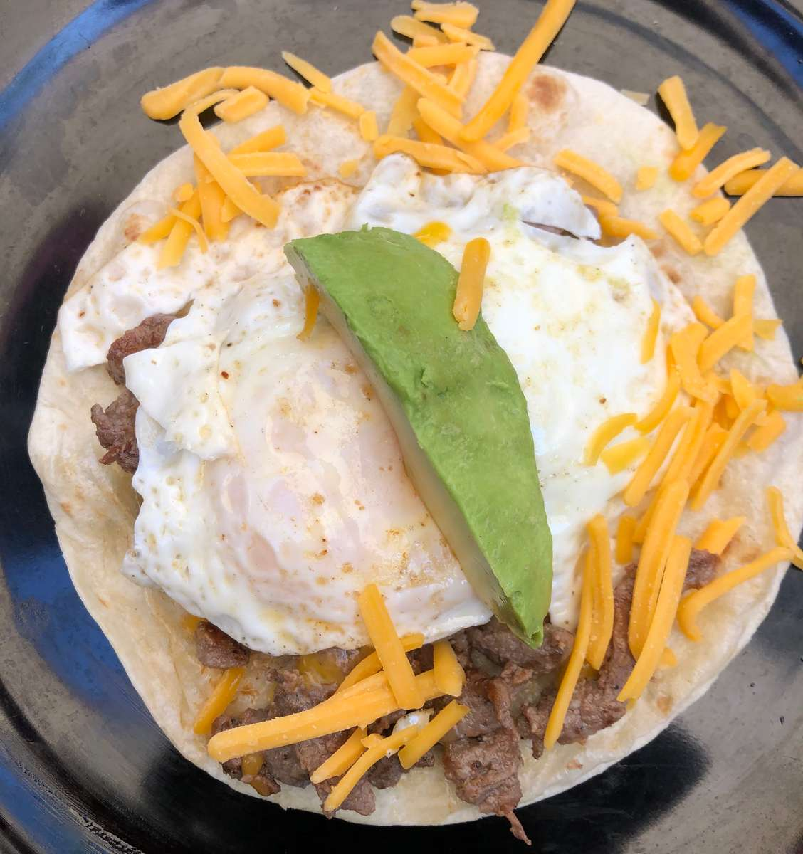 Breakfast Beef Fajita Taco