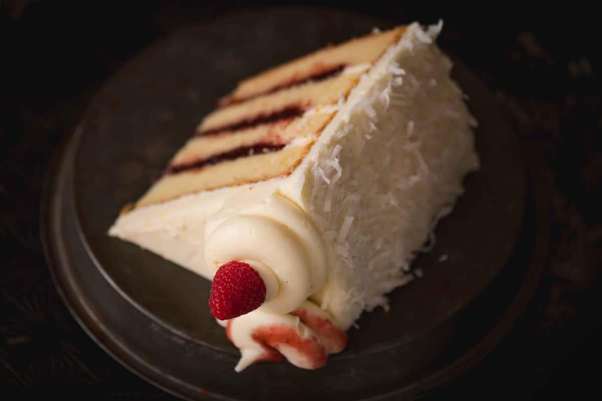 Coconut Lemon Berry Cake