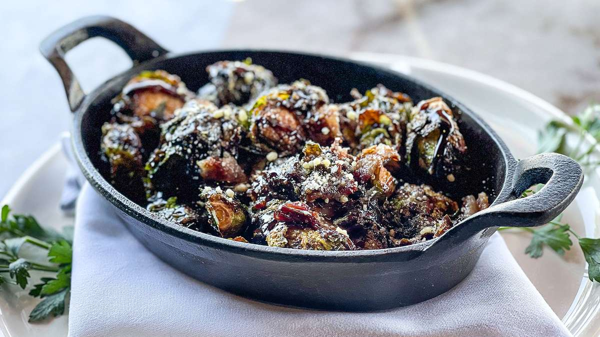 Crispy Brussels Sprouts with Smoked Bacon