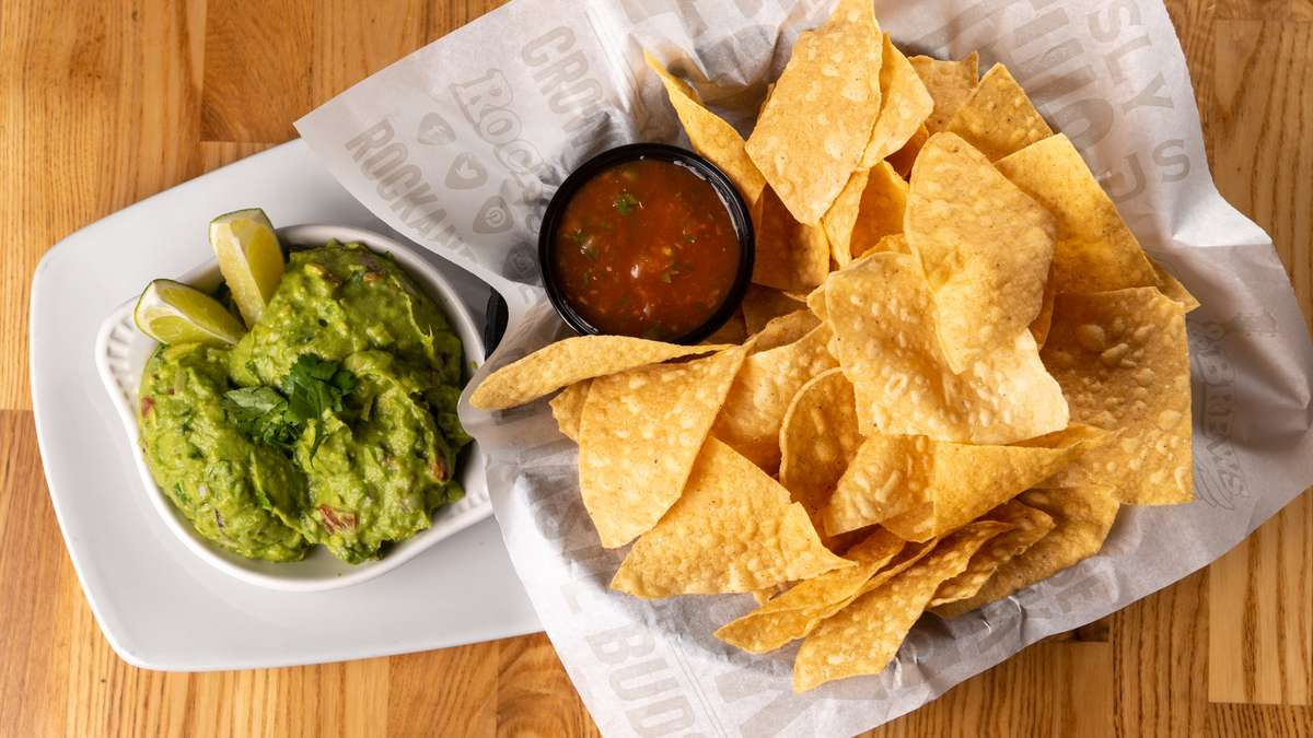 Hand-Hacked Guacamole & Chips