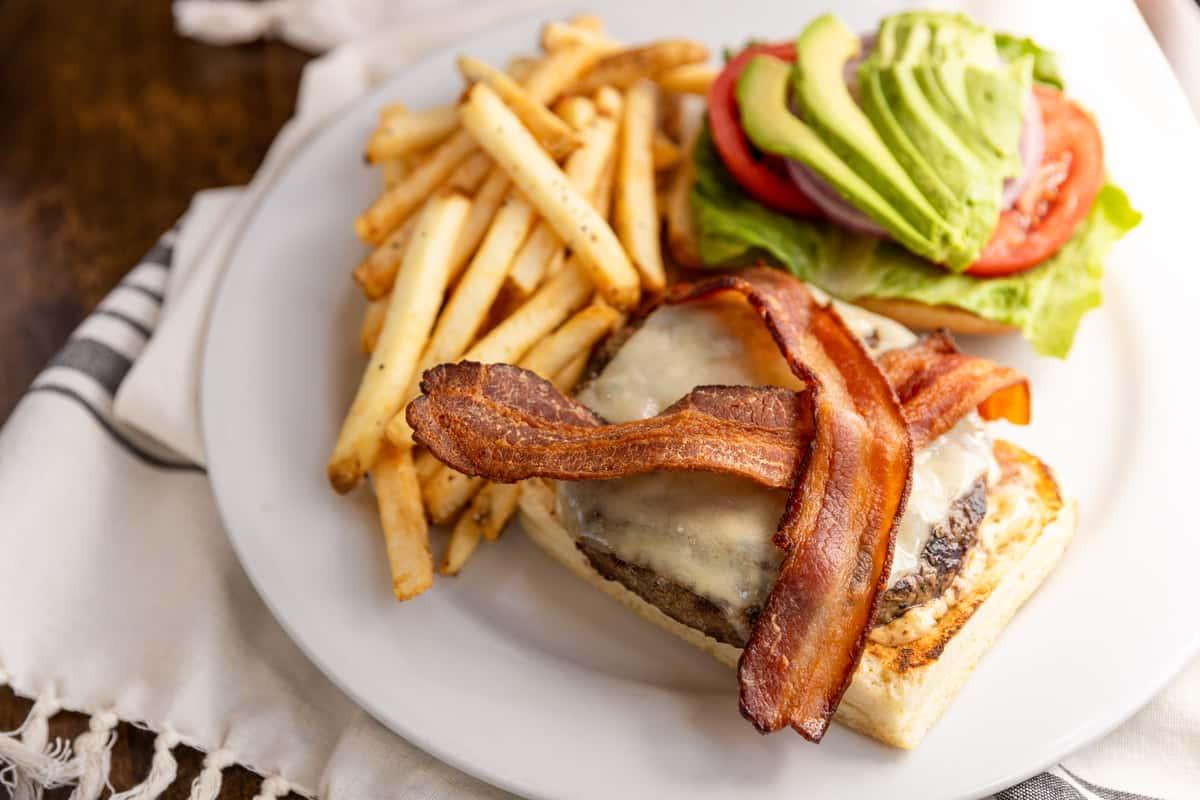 Bacon Swiss Burger with Avocado