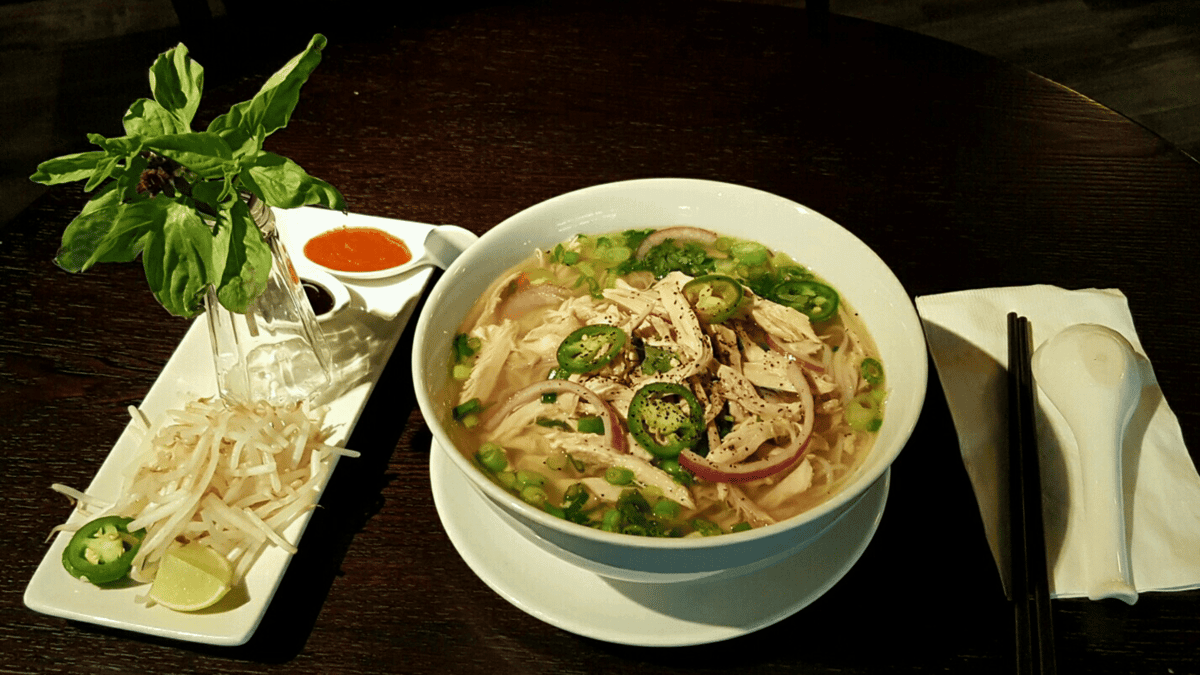 Ginger Chicken Pho (Pho Ga)