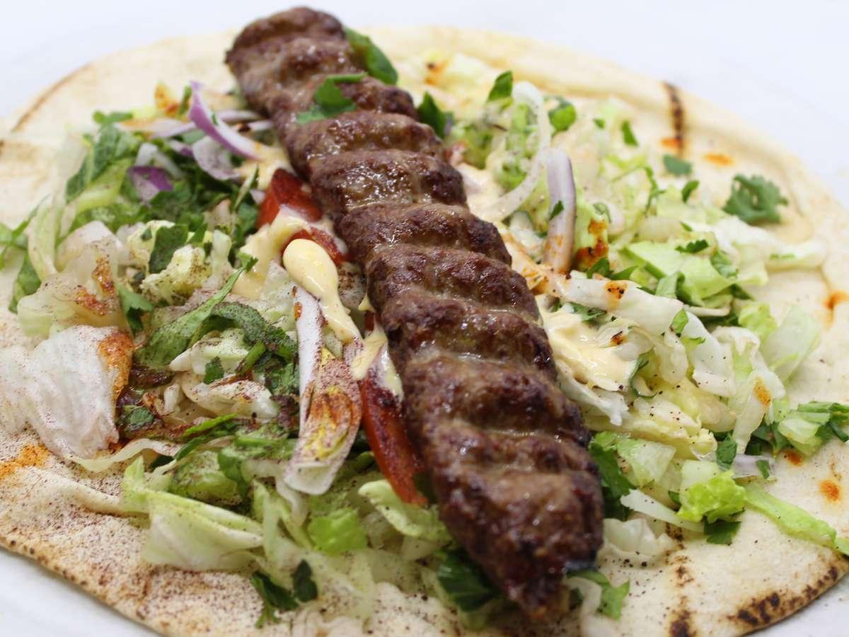 Beef Luleh Kebab Wrap