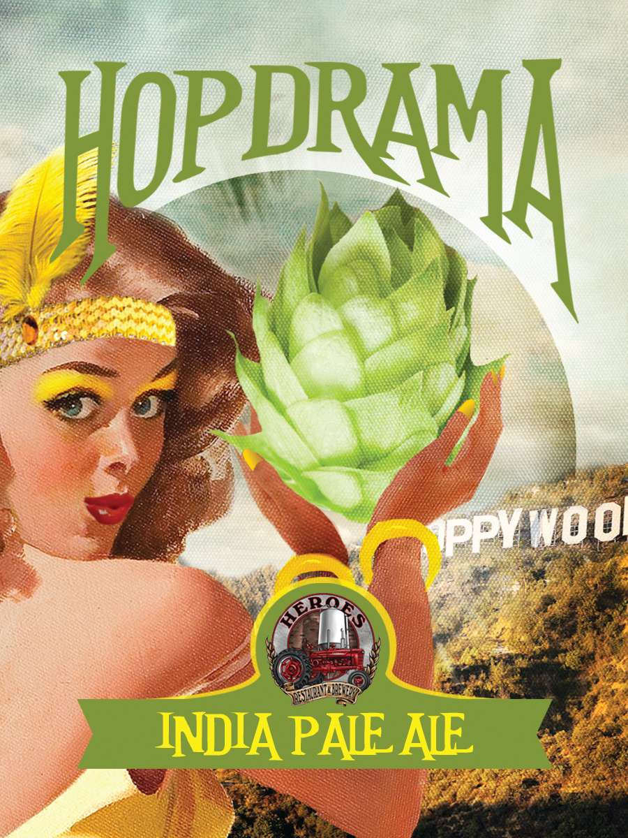 Heroes Hopdrama IPA (6.5% ABV; 60 IBU)