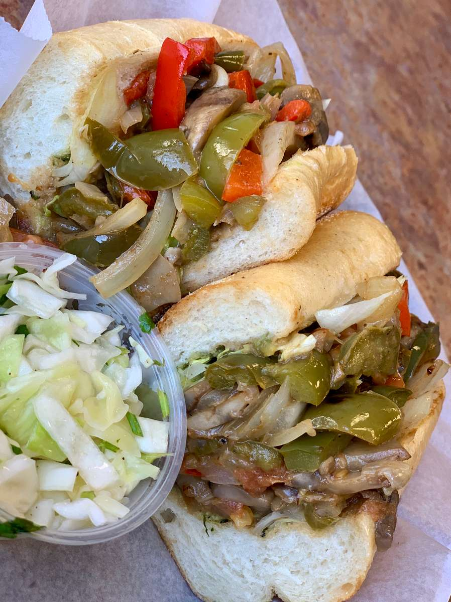 "Veggie Lover's ""Cheesesteak"""