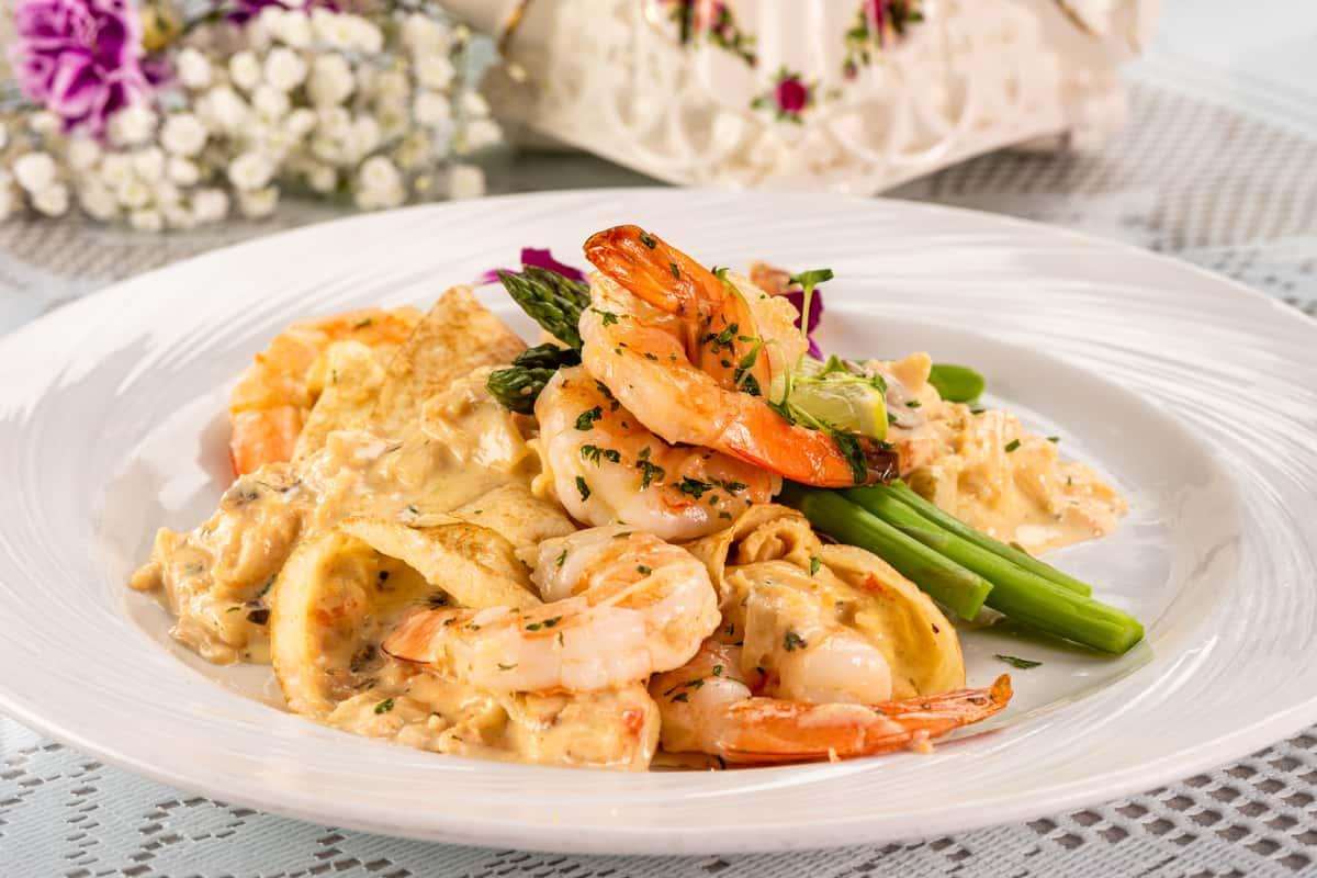 Shrimp & Lobster Crepes