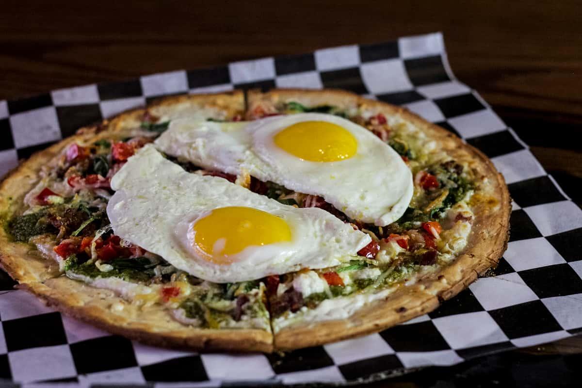"""Sunny Caprese"" Breakfast Pizza"
