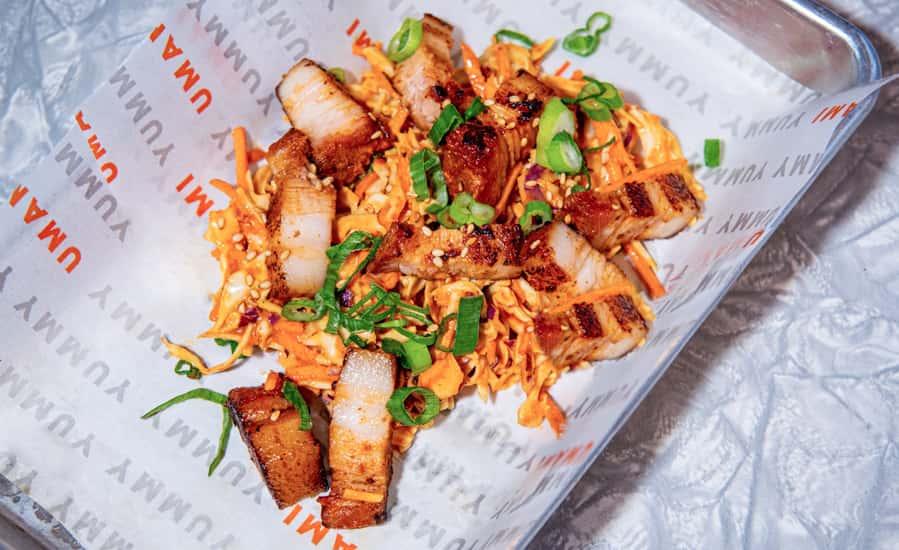 Korean Pork Belly Slaw
