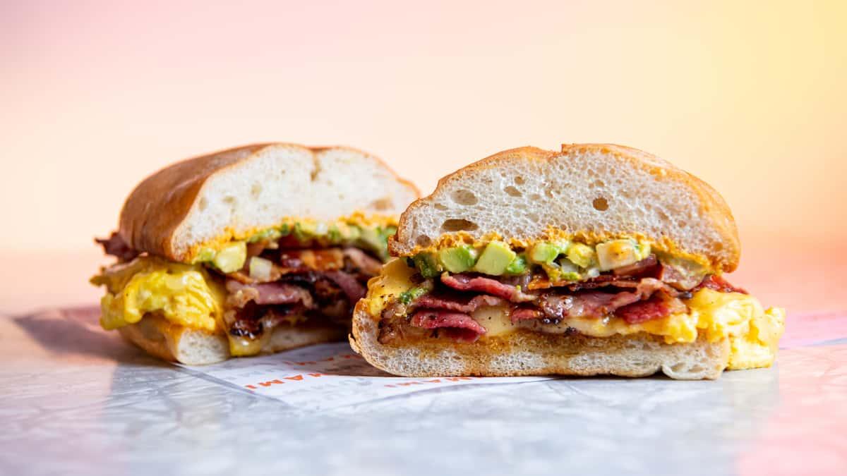 Spicy Breakfast Torta Sandwich