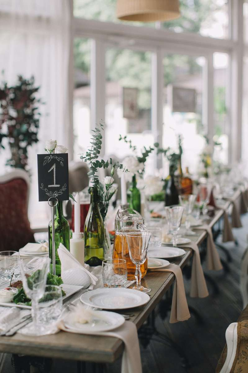Private event plated table