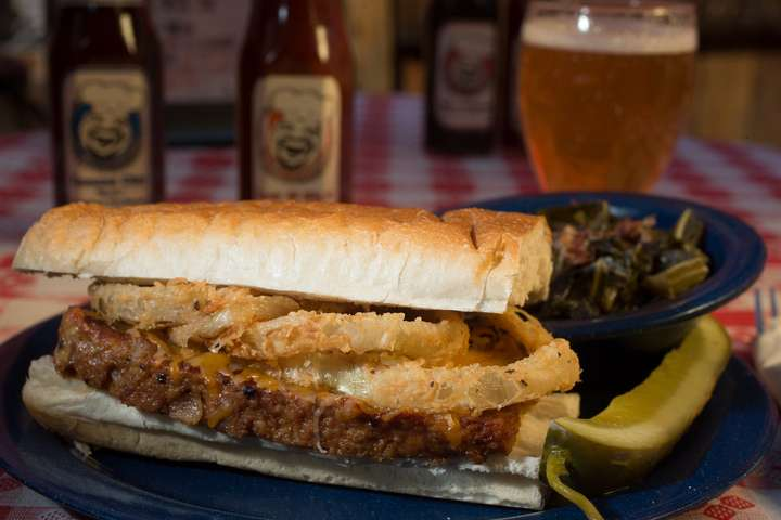 Smoked Meatloaf Sandwich
